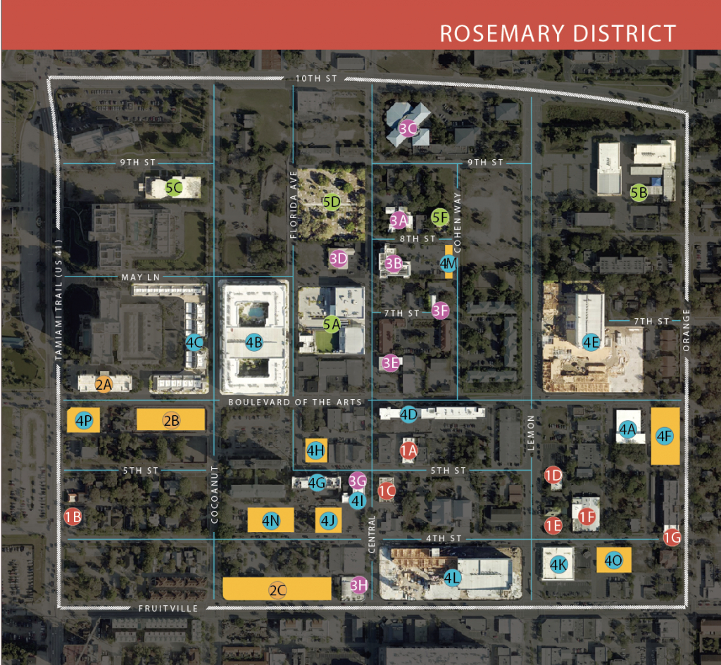 Your Guide To The Rosemary District   Sarasota Magazine - Rosemary Florida Map
