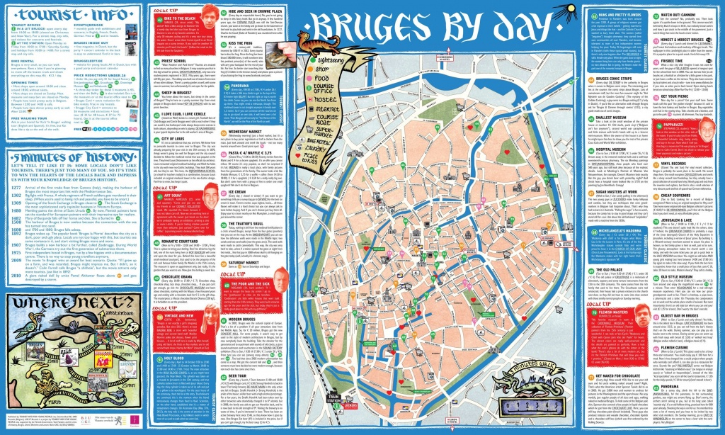 Zeebrugge Belgium Cruise Port Of Call - Bruges Tourist Map Printable