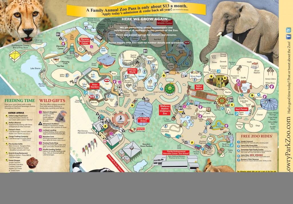 Zoos - Tampa Lowry Park Zoo - Zoos In Florida Map
