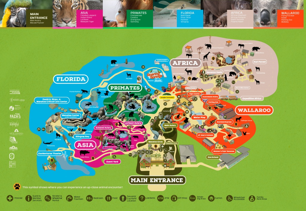 Zootampa At Lowry Park - Florida Aquarium Map